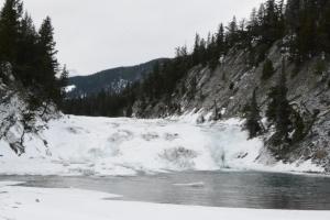 A Semi-frozen lake