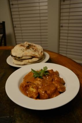 Naan and Chicken Tikka Masala