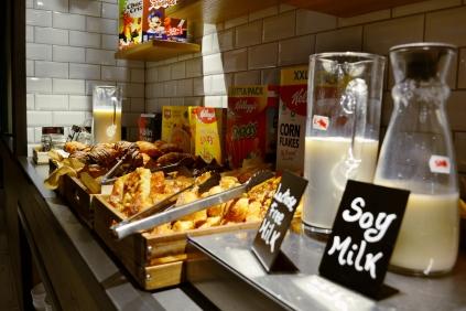 milk and pastries