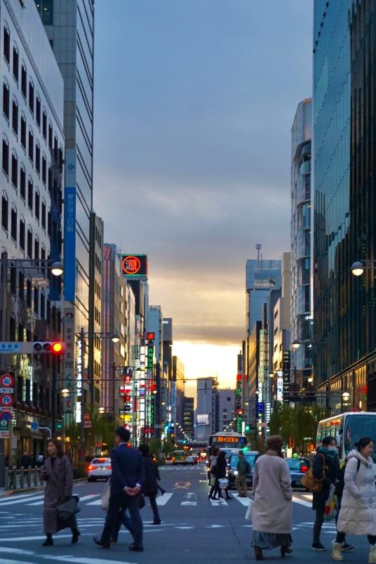 Night scene in Ginza