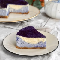 Double Layer Butterfly Pea Cheesecake (Video)